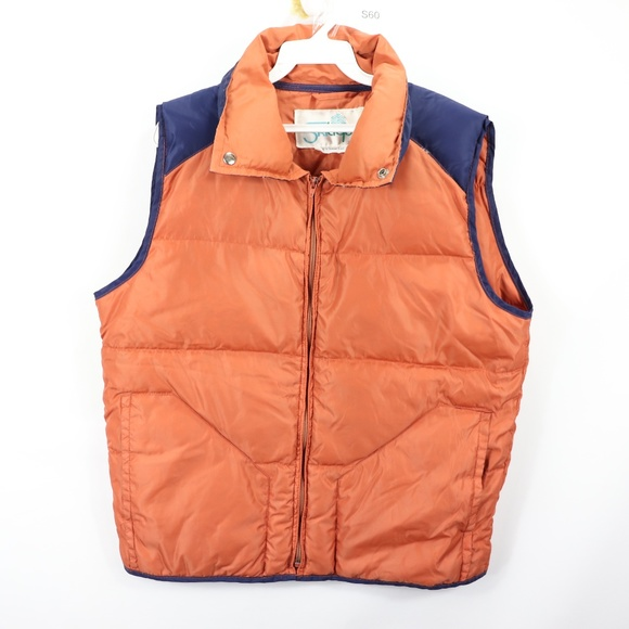 Skitique Other - 80s Skitique Mens XL Down Fill Puffer Vest Orange